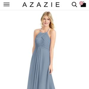 Dusty Blue Azazie Ginger Bridesmaid Dress
